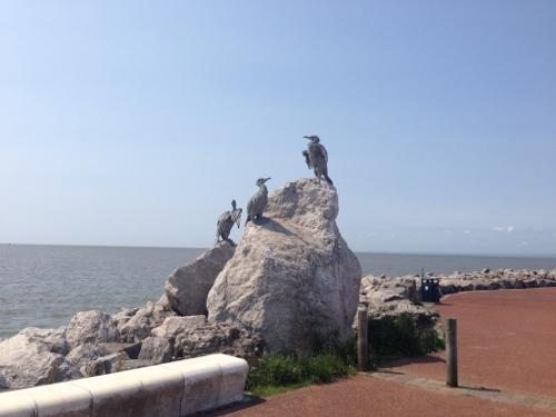Cormorant statues - Morecambe
