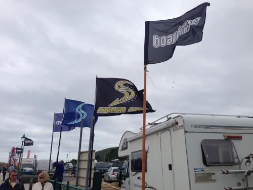 Flags flying in Aberdyfi
