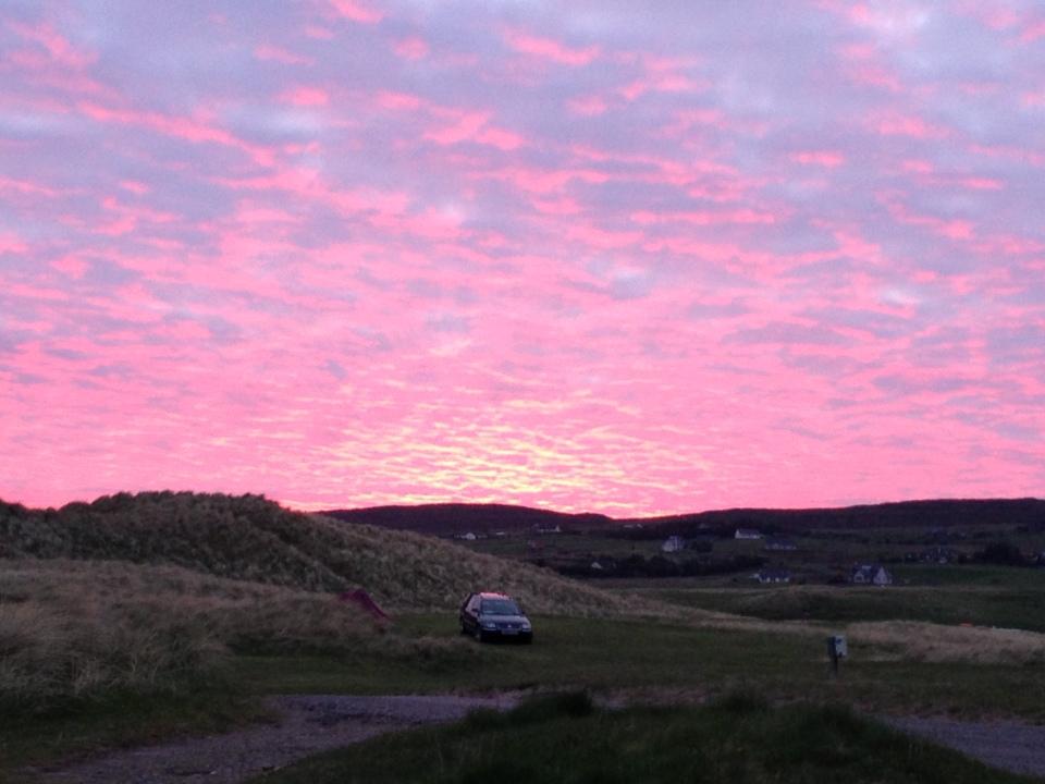 Sunset at Big Sands Campsite, Gairlock