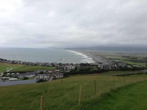 Top of the hill looking back towards Borth