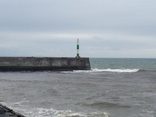 Aberystwyth Harbour - choppy sea