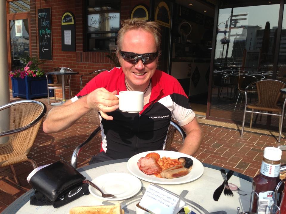 Breakfast at the Sovereign Marina, near Eastboure