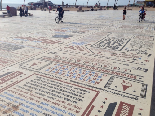 Interesting mosaic type affair on the Prom