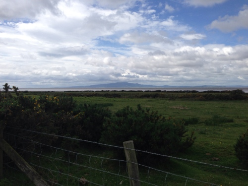 Looking toward Solway Firth and Scotland beyond