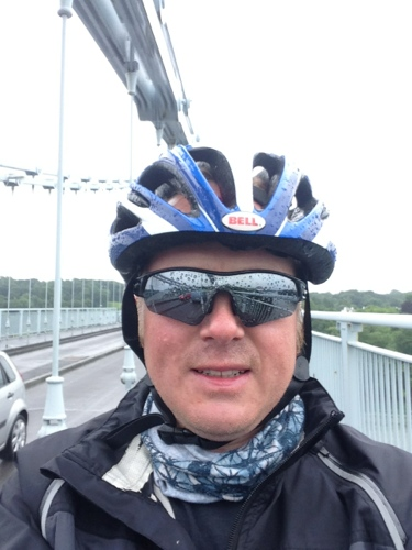 Me on the Menai Bridge
