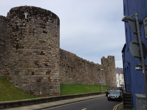 More castle wall - pretty large and imposing