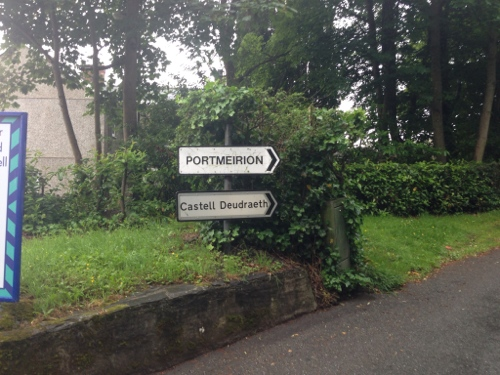 Signpost to Portmeirion