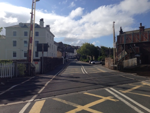 St Bees village, I crossed the level crossing with care