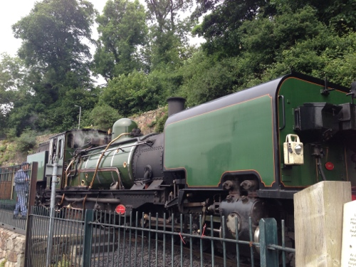 Steam Train - with the castle and medieval town I half expected to see something from Harry Potter
