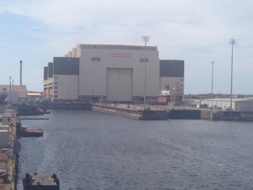 Submarine building sheds