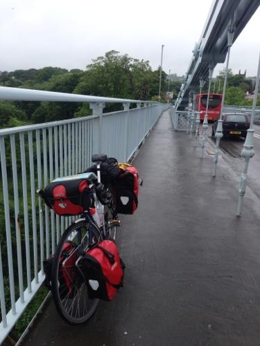 The Ridgeback on the Menai Bridge