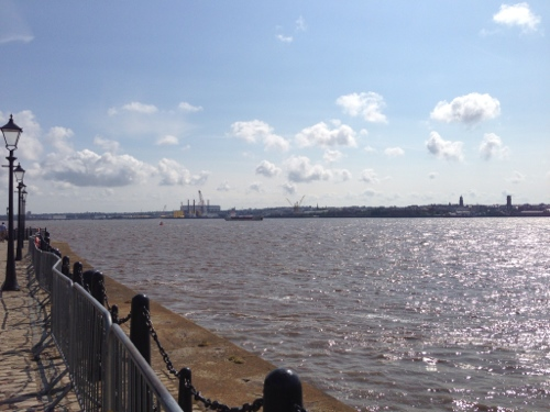 The River Mersey, looking over to the Wirral