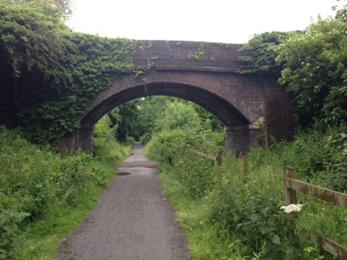 The Wirral Way - a pleasant route despite the weather