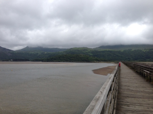 Toll bridge looking towards opposite shore from Barmouth