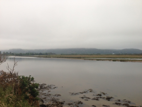 View from cycle path alongside the Britannia Terrace from Porthmadog