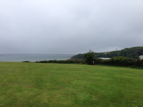 A grey morning at the Sandy Haven campsite
