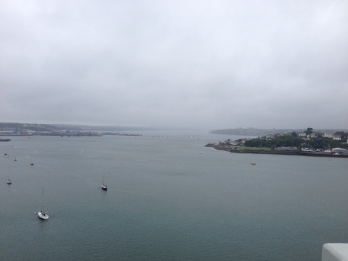 Another view from the bridge - a very rainy day