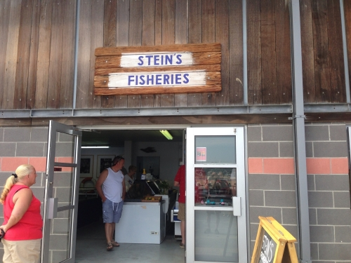 Arrival in Padstow - Stein's fishmongers and fish and chips shop
