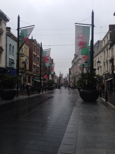 Cardiff in the rain