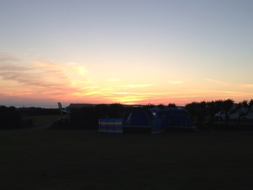 Sun sets over Southwinds campsite