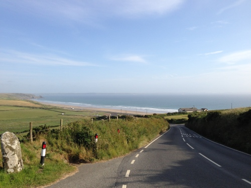 A487 along the coast from St David's