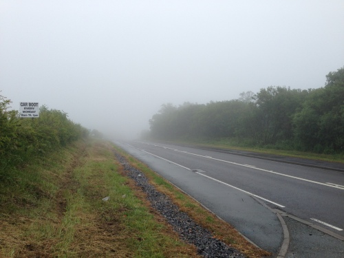 Grim riding on the A477