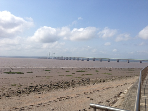 Severn Estuary - looking back to the bridge