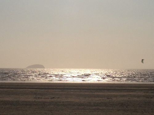 Evening drawing on in Weston-super-Mare