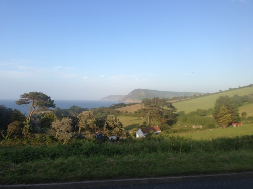 Top of the last hill before Hele Bay - gorgeous view