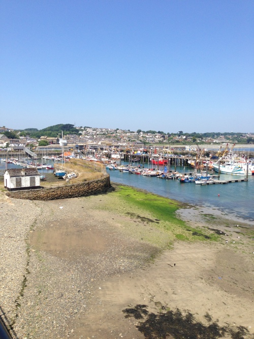 Newlyn harbour and old harbour