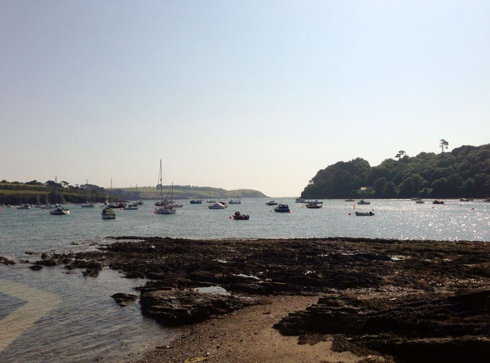 Helford River - lots of boats moored up