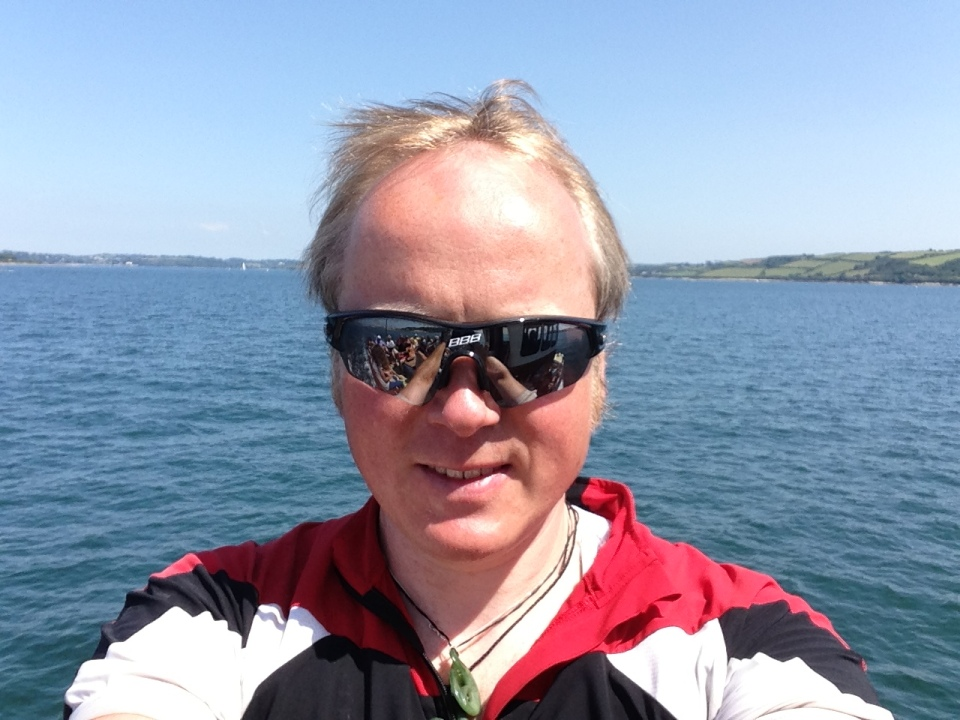 Falmouth - me on the ferry
