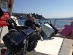 Fowey - on the ferry, power monkey working well in the sunshine