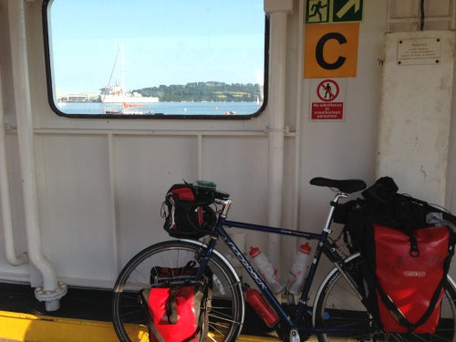 Bike on board the Plymouth chain ferry