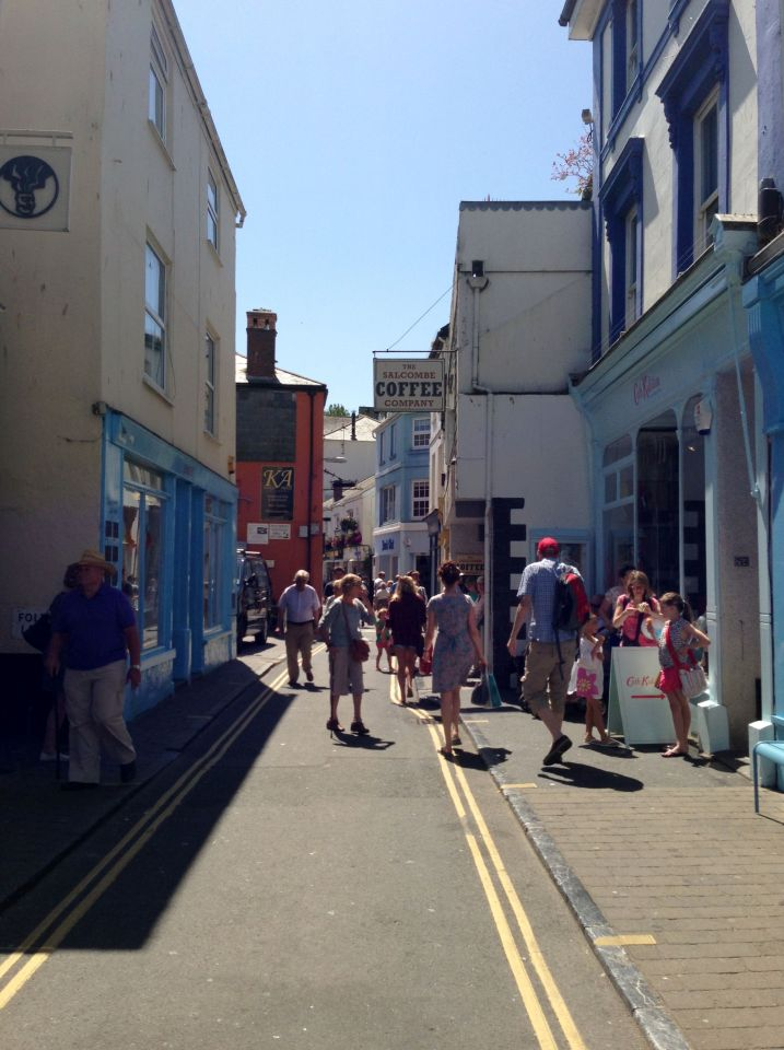 Salcombe - narrow streets and boutiques