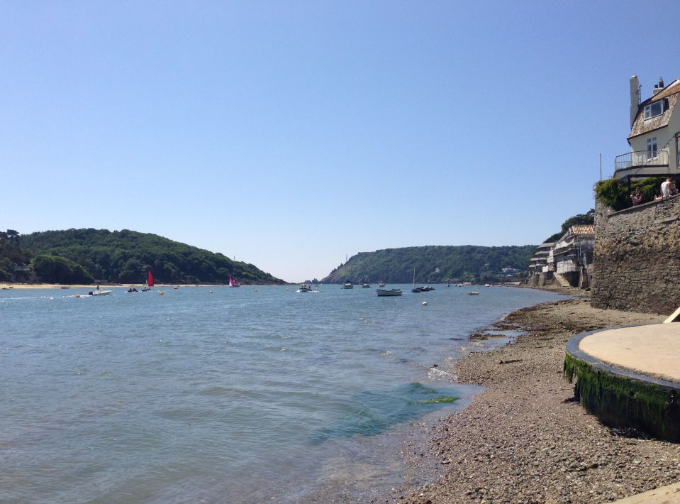 Salcombe waterfront - looking south towards the sea