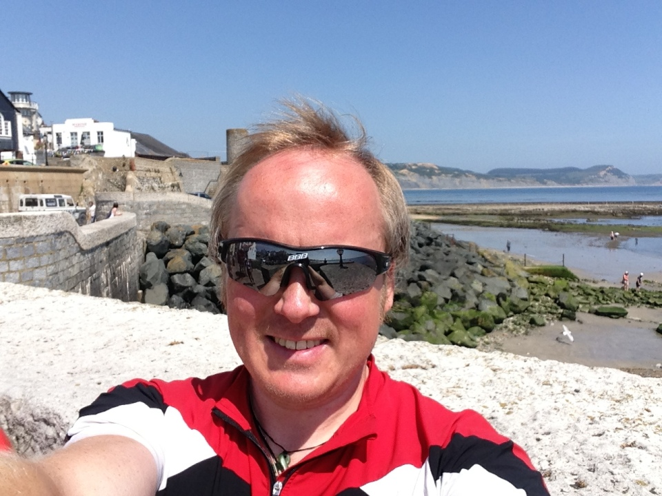 Lyme Regis - me, and another beautiful day
