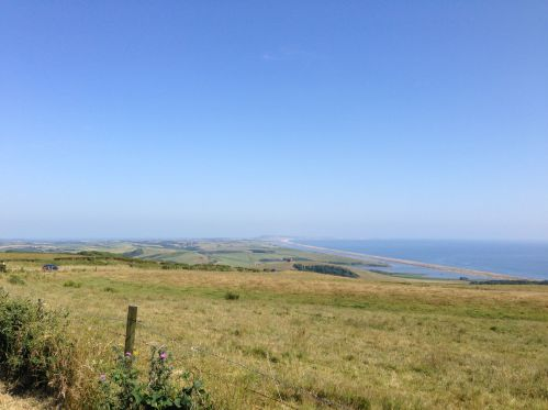 Dorset countryside and Chesil Beach