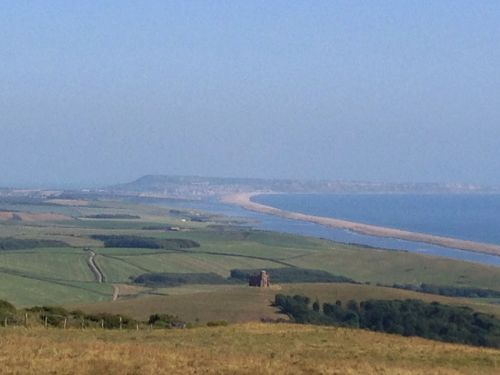Isle or Portland in the haze
