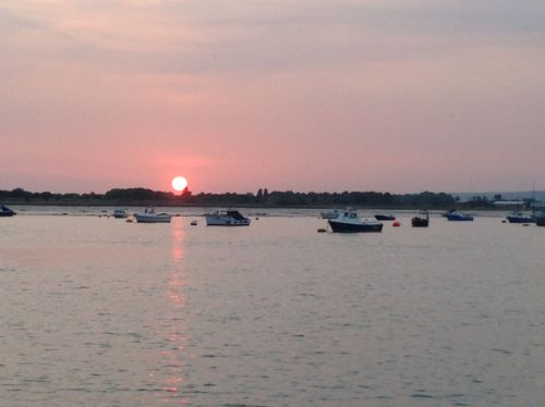 Hayling Island Ferry - sun nearly gone