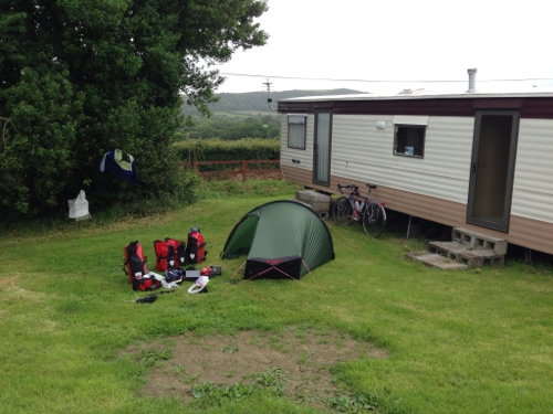 Morning at Treddafydd Campsite