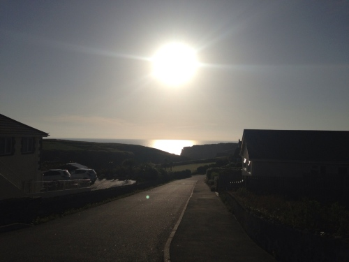 Road to Tintagel - sun getting lower
