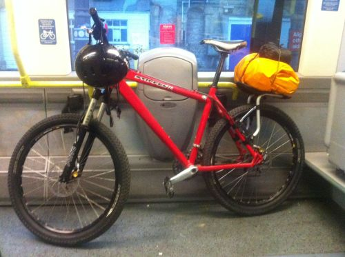 Ian's bike - he was travelling light