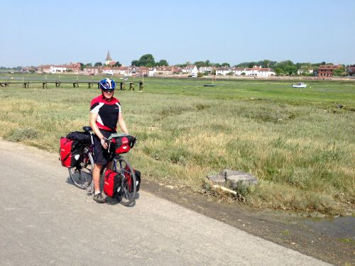 Bosham 3 - a rare photo of me on my bike