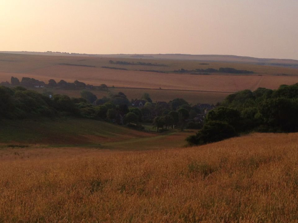 Morning on the South Downs 4 - looking down to East Dean