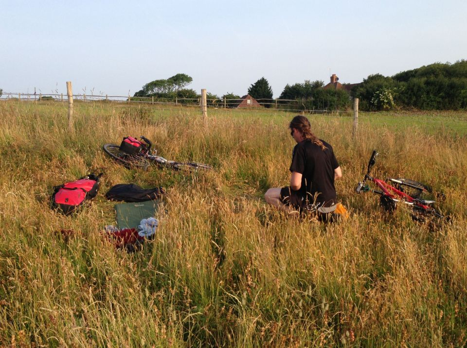 Morning on the South Downs 5 - our wild camp