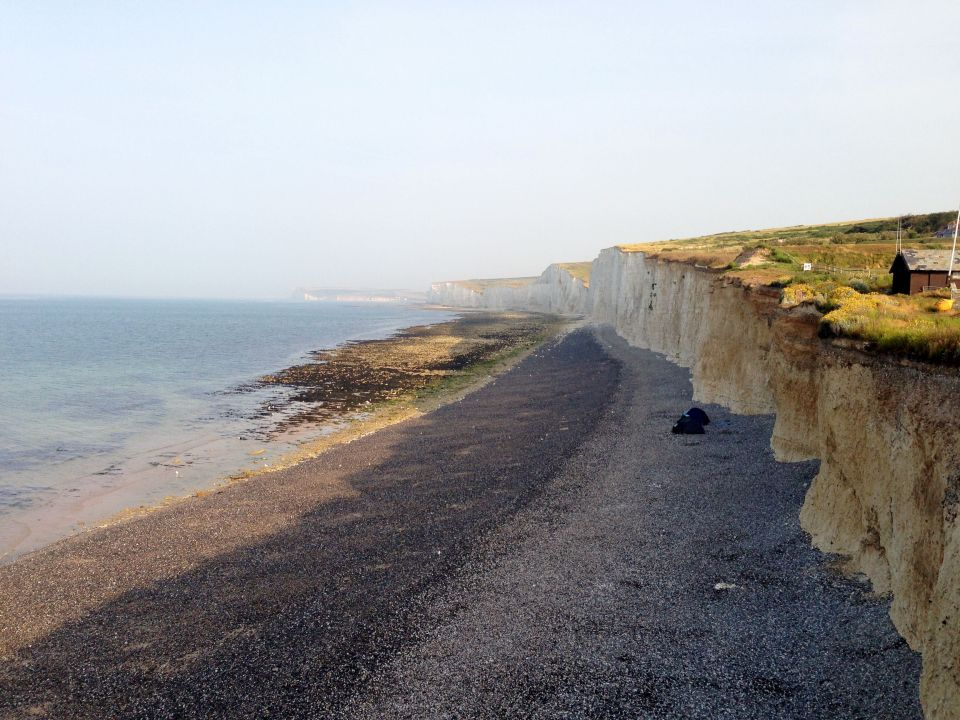 Birling Gap - people camig next to the cliff were taking a bit of a risk