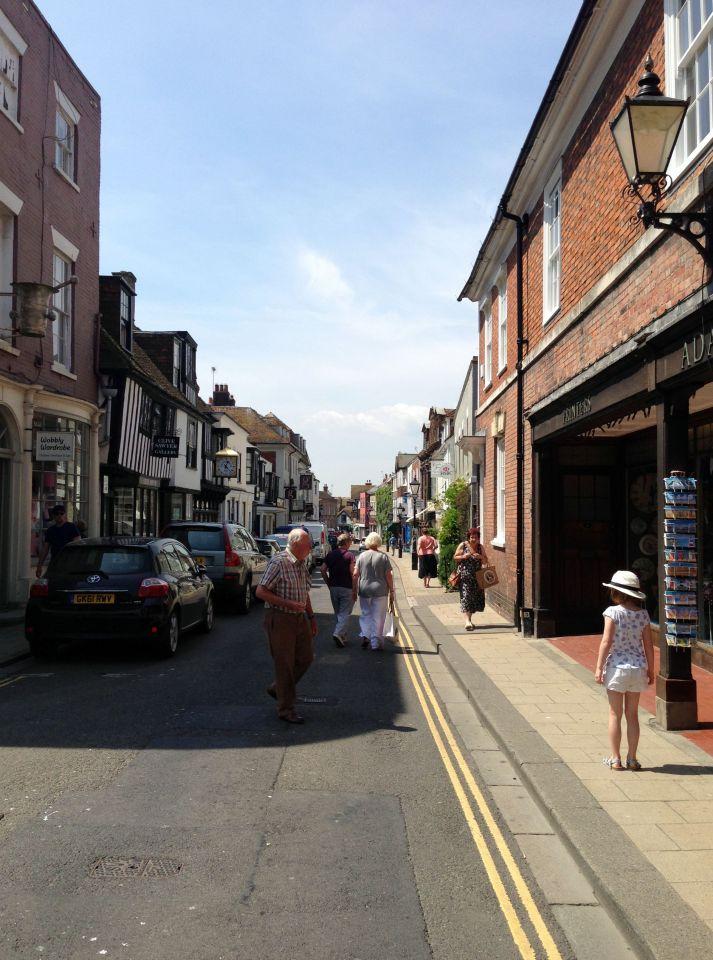 Rye - main street, many purveyors of ice cream