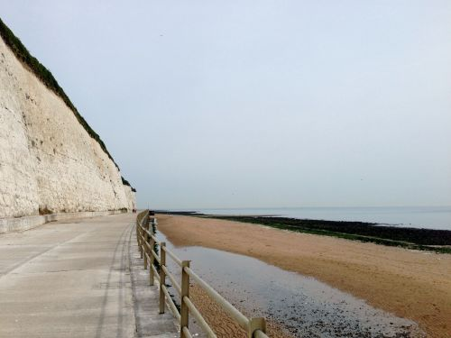 Cycling below the cliffs in Ramsgate - a dead end