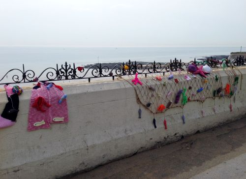 Broadstairs knitting bomb